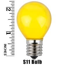 e17 patio and light bulbs s11 opaque yellow 10 watt