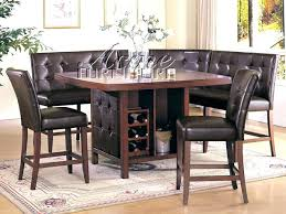Bar Height Bench Counter Dining Table Set With