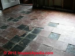 asbestos flooring damage hazard assessment
