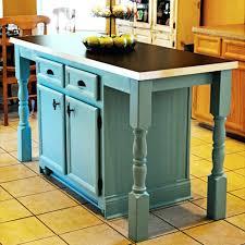 Rustic Kitchen Islands And Carts Wonderful Teal Island Cart Blue Bar