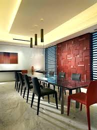 Burgundy Accent Wall Red Feature Dining Room In Grey Walls