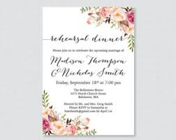 Printable OR Printed Floral Rehearsal Dinner Invitations