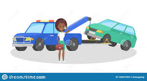 100 Truck Roadside Assistance Tow Illustration Car Vector Stock Vector