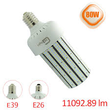 80w led corn bulb replace 250watt high pressure sodium l e39