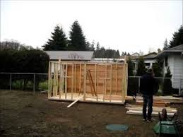 yard kit 12 x 8 shed assembly youtube