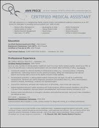 Medical Resume Objective Nice Assistant Skills Resumes New
