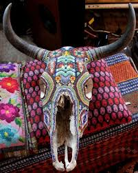 Decorated Cow Skulls Pinterest by 174 Best Mosaics Western Art Images On Pinterest Bull Skulls