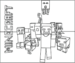 Coloring Pages Of Minecraft Idea Printable Or Creeper