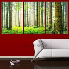 Large Wall Art Green Nature Forest Canvas Print