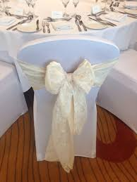 Ivory Taffeta And Ivory Lace Sashes On White Lycra Stretch ... Chair Covers For Weddings Revolution Fairy Angels Childrens Parties 160gsm White Stretch Spandex Banquet Cover With Foot Pockets The Merchant Hotel Wedding Steel Faux Silk Linens Ivory Wedddrapingtrimcastlehotelco Meathireland Twinejute Wrapped A Few Times Around The Chair Covers And Amazoncom Fairy 9 Piecesset Tablecloths With Tj Memories Wedding Table Setting Ideas Au Ship Sofa Seater Protector Washable Couch Slipcover Decor Wish Upon Party Ireland