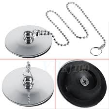 Rubber Sink Stopper With Chain by Universal Bathtub Basin Water Sink Plug Stopper Chain For Bathroom