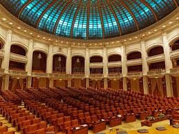 chambre du parlement à l intérieur de la chambre du parlement à bucarest la roumanie