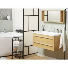 badmöbel beige mdf platte acryl 92 x 100 x 47 cm modern exklusiv ös praktisch multifunktional badezimmer