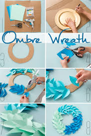 Affordable Diy Ombre Wreath Use Colorful Cardstock Paper Cardboard And Elmerus New Craftbond Less With Things For Home Decoration