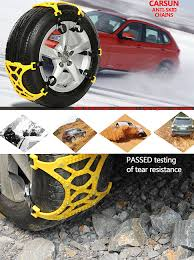 Snow Chains For Universal Tires - Emergency Anti-Skid Chains ...