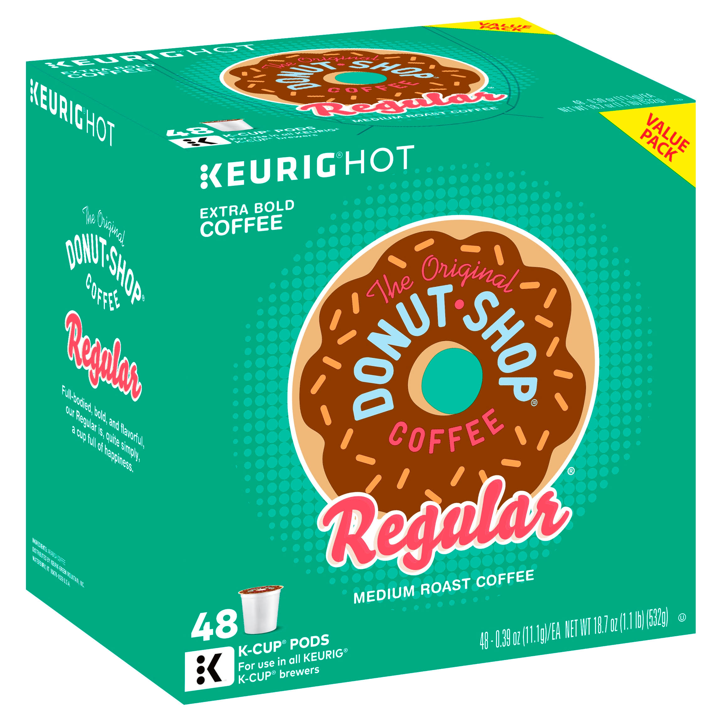 Keurig The Original Donut Shop K-Cup Pack - 48ct