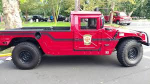 100 Hummer H1 Truck 1993 FIRE ENGINE RED SPRINGFIELD 17K MILES HUMMER TRUCK 1 Of 1
