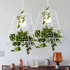 pflanzen anhänger lichter nordic modernen hängependelleuchte leuchte weiß pastoralen le esszimmer restaurant home innenbeleuchtung