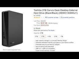 unboxing toshiba canvio 3tb usb 3 0 external hard drive youtube
