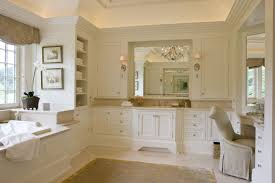 Beige Bathroom Design Ideas by Luxurious Master Bathrooms Design With Beautiful Lamps Decor