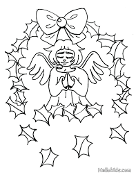 Angel Coloring Pages Online Free Printable Christmas For Adults Page Holiday