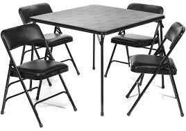 5Pcs Portable Folding Card Table And Chair Set Triple Braced Vinyl ... Adams Northwest Estate Sales Auctions Lot 85 Nice Cosco Card Table With Padded Chairs Best Home Chair Decoration Fniture Using Cheap Folding For Pretty Meco Sudden Comfort Deluxe Double And Back 5 Piece Lifetime Contemporary Costco Indoor And 7733 2533 Vtg Retro Samsonite 4 Set 30 Round Leather Top Poker Mahogany Games Flip With Traditional For The Rare Arts Crafts Game Attractive 5piece Black Portable Set37557blke The