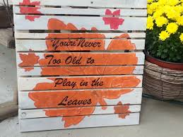 Fall Autumn Pallet Art Sign Decor By TeesTransformations 4200