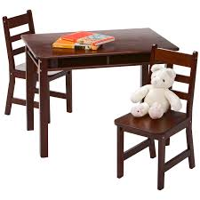 Lipper Childrens Rectangular Table And Chair Set Tree Bench