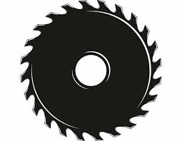 Saw Blade 1 Hardware Cutting Cut Shape Wood Tool Handyman Woodworking Carpenter SVG EPS PNG Digital Clipart Vector Cricut