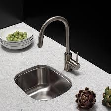 Undermount Bar Sink White by Kraus Kbu17 15 Inch Undermount Single Bowl 18 Gauge Stainless