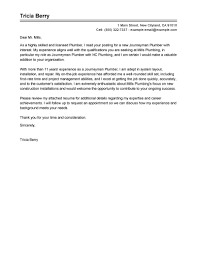 Best Journeymen Plumbers Cover Letter Examples