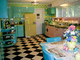 Lori s pink blue and yellow retro kitchen A whole lot of lovin