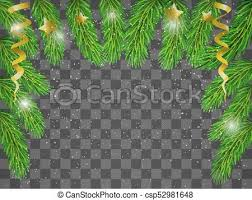 Christmas Tree Branches On Transparent Background
