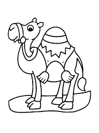 Camel For Little Children Coloring Pages
