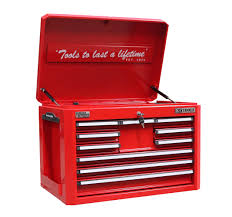 10 DRAWER TOOL BOX WITH BBS- RED