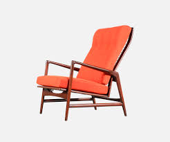 Kofod Larsen Selig Lounge Chair by Ib Kofod Larsen Reclining Lounge Chair With Ottoman For Selig