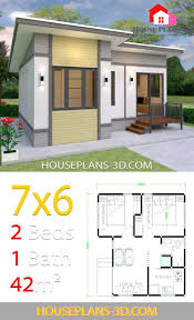 small house plans 7x6 with 2 bedrooms small house design