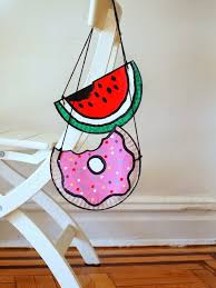 Paper Plate Watermelon And Doughnut Purses Kids Craft