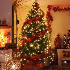 Types Of Christmas Tree Decorations by Christmas Tree Ribbon Decorating Ideas Interior Dazzling