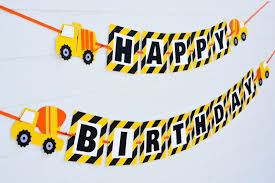 100 Tonka Truck Birthday Party Construction Banner Construction Dump Etsy