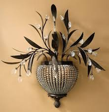 mesmerizing decorative wall lights flowers and pot design with
