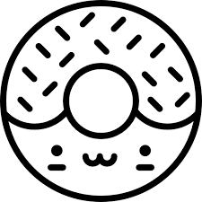 Image Royalty Free Download Icon Donut Clipart Black And White