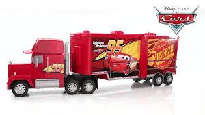 100 Disney Cars Mack Truck Hauler Pixar Super Track Playset Target