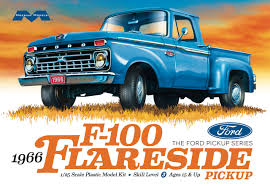 100 Resin Model Truck Parts 1966 Ford F100 Flareside Pickup 125 Moebius