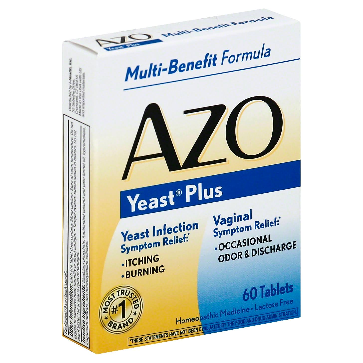 AZO Yeast Plus Multi-Benefit Formula Tablets - 60 Tablets