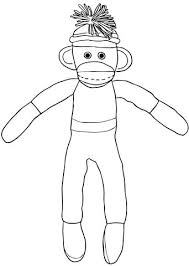 Click To See Printable Version Of Christmas Sock Monkey Coloring Page