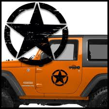 Jeep Distressed Star Door Single Vinyl Decal Stickers - Sticker ... Car Decals Vinyl Truck Custom 42017 2018 Chevy Silverado Stripes Accelerator Sideline 52018 F150 Ford Graphics 3m Kit 092018 Dodge Ram Side Mountain Range Decal Rocky Nature Stickers Car Truck Auto Motors Intertional Cadian Flag Tailgate Graphic Vehicle Kits By Ampco Branding On The Move Predator 2 Fseries Raptor Mudslinger Bed Home Squgee Boy Reflective Ys Marketing Inc