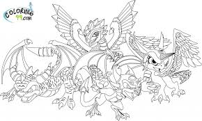 Lightning Dragon Coloring Pages