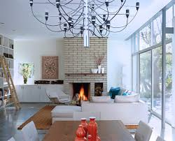 Modern Brick Fireplace