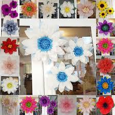Frozen pom pom paper set 3x tissue paper flowers wedding centerpiece